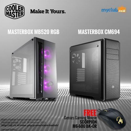 INSTAG - FB __ MASTERBOX CM694 TG&MB520 RGB - FREEF SCORPION M6-600 BK+OR - FEBRUARI- 2020